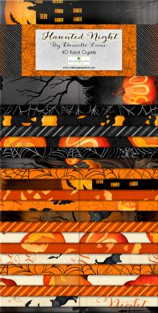 Haunted Night 2 1/2 in strips, 40pcs