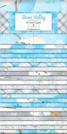 2.5 Fabric Strips Snow Valley
