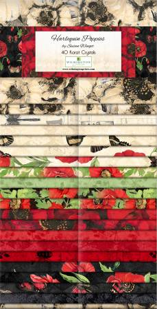 Harlequin Poppies 2-1/2in Strips, 40pcs