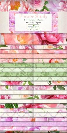 2-1/2in Strips Flower Study, 40pcs, 4 bundles/pack