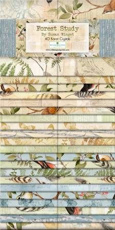 2-1/2in Strips Forest Study, 40pcs, 4 bundles/pack