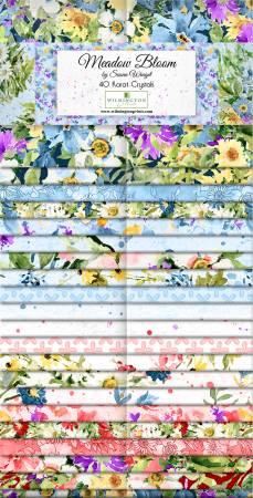 2-1/2in Strips Meadow Bloom, 40pcs, 4 bundles/pack
