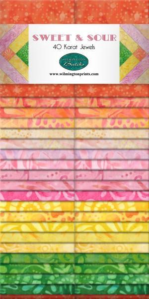 2-1/2in Strips Sweet & Sour Batik 40pcs/bundle