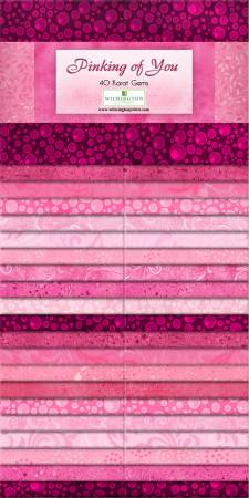 2 1/2 X 44 Strips- Pinking of You - 42 Strips