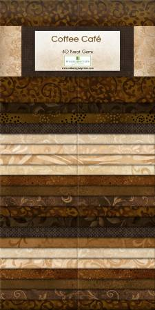 2-1/2in Strips Coffee Cafe 40pcs/bundle, 4 bundles per pack