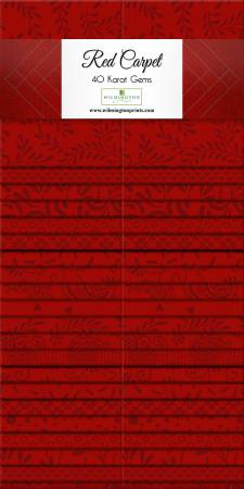 2-1/2in Strips Red Carpet 40pcs/bundle