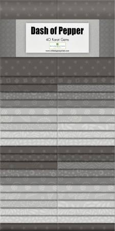 40 Carat Gems Dash of Pepper, 40pcs,  2-1/2in Strips