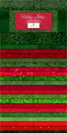 2-1/2in Strips Essentials Holly Jolly, 40pcs