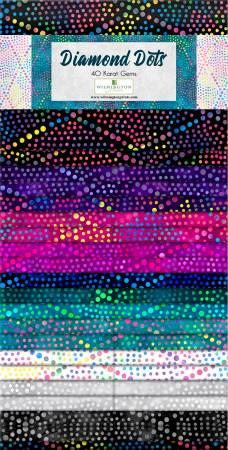 2-1/2in Strips Essentials Diamond Dots, 40pcs