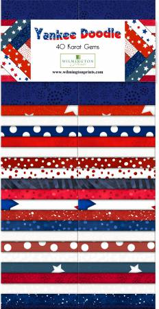 2-1/2in Strips Yankee Doodle 40pcs/bundle