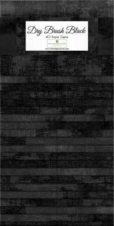 Dry Brush Black 2-1/2in Strips