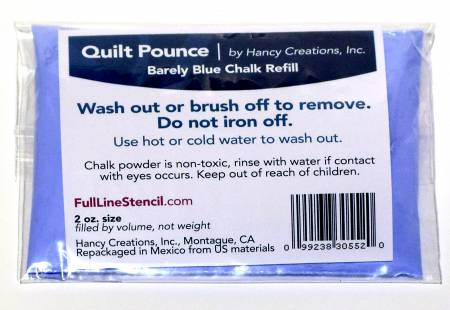 Pounce Pad Chalk Powder Refill Barely Blue