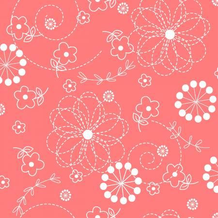 108 Kimberbell - Pink Doodles - Peachy
