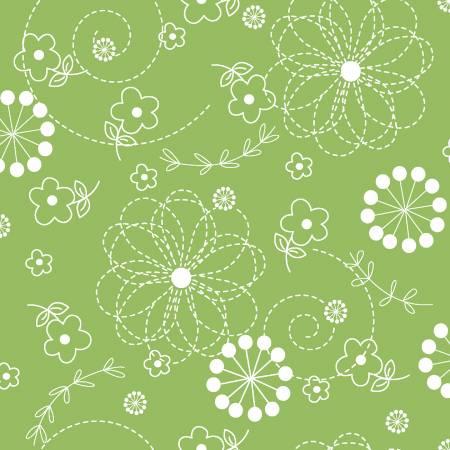 108 Kimberbell - Doodles - Green