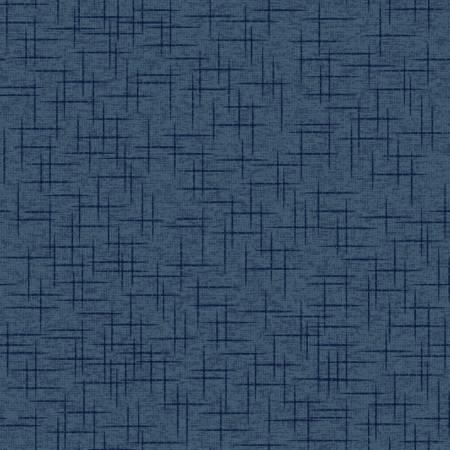 Navy Linen Texture 108in Wide Back