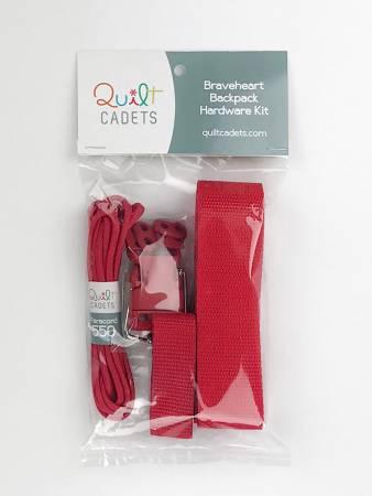 Braveheart Backpack Hardware Kit Red Quilt Cadet