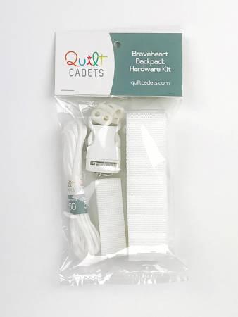Braveheart Backpack Hardware Kit White