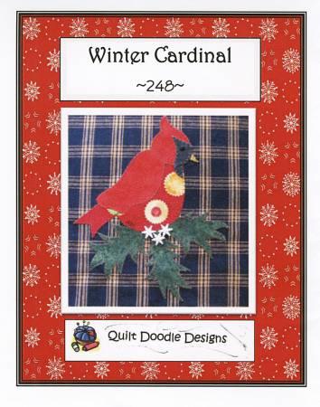 Mug Rug Winter Cardinal