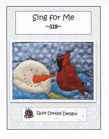 Sing For Me mug rug PDF pattern