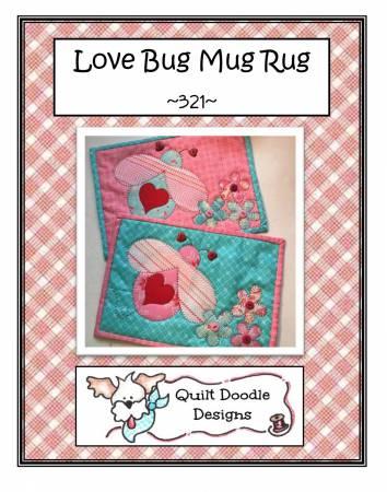 Love Bug Mug Rug PDF pattern