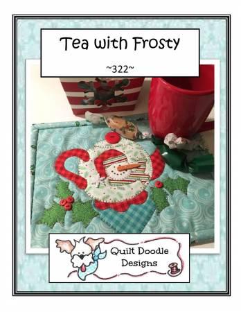 Tea With Frosty Mug Rug - PDF