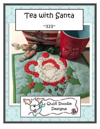 Tea With Santa Mug Rug - PDF