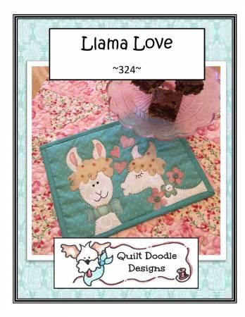 Mug Rug Llama Love