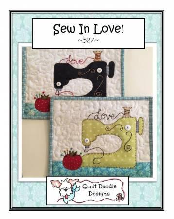 Sew In Love Mug Rug - PDF