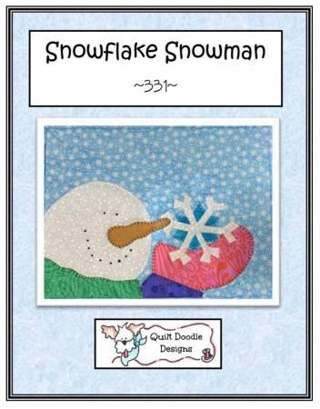 Snowflake Snowman Mug Rug