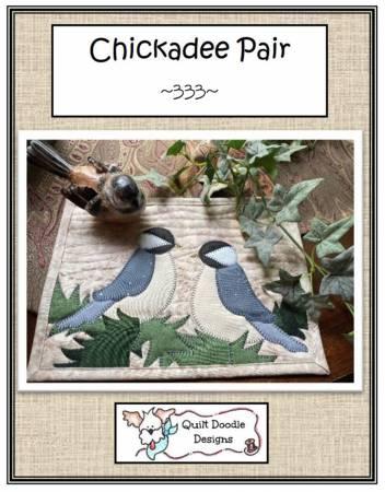 Chickadee Pair Mug Rug