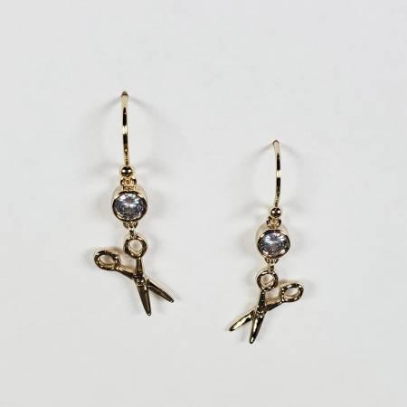Scissor Drop Earring Gold