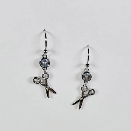 Scissor Drop Earring Silver