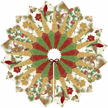 Natural Quilt Fox Designs Dresden Tree Skirt Kit, pattern included