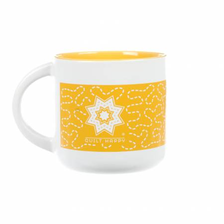 Quilt Happy Meandering Mug-Sunshine
