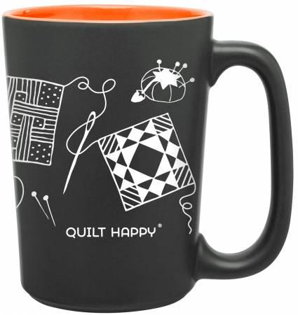 Quilt Happy Scribbles Mug Orange