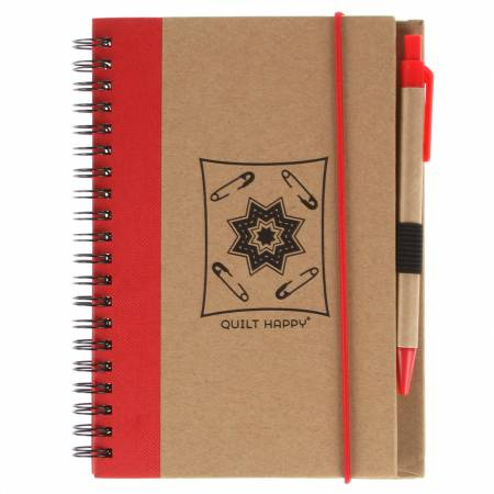 Eco Journal with  Pen - Red