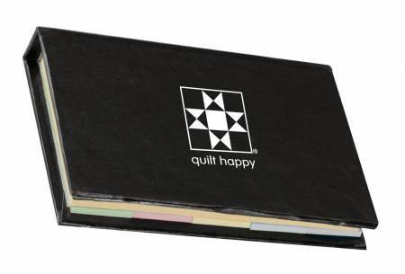 Quilt Happy Micro Sticky Novel Black