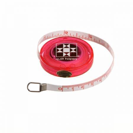 Tape Measure Quilt Happy Pink 5 ft Retractable