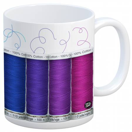 Quilt Happy - Spools Mug