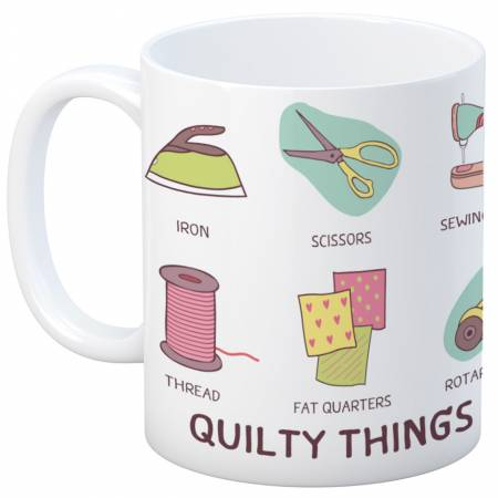 Quilt Happy Quilty Things Mug