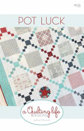 Moda Pot Luck Layer Cake Pattern by Sherri McConnell from A Quilting Life Designs
