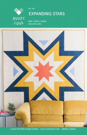 Expanding Stars Quilt Pattern by Quilty Love