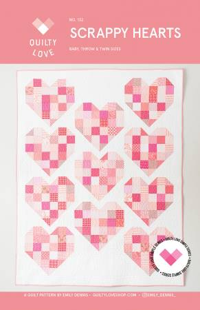 Scrappy Hearts Quilt Pattern QLP132