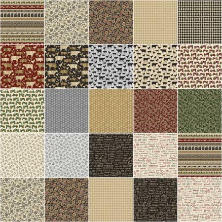 5in Squares Quilt Barn Prints, 42pcs