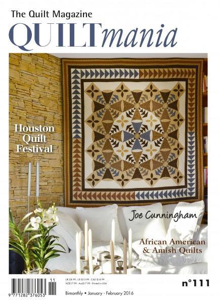 Quiltmania Magazine #111 January - February 2016