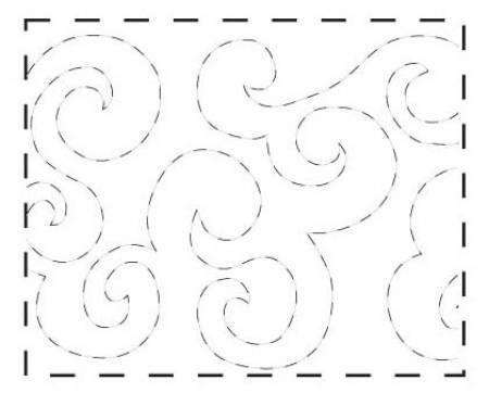 Quilt Pattern on a Roll - #309 Waves (9.5 X 26')