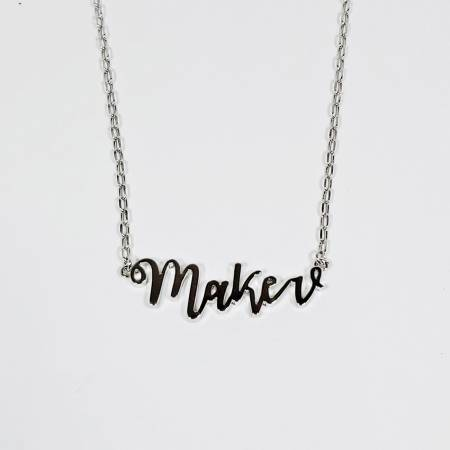 Maker Necklace Silver