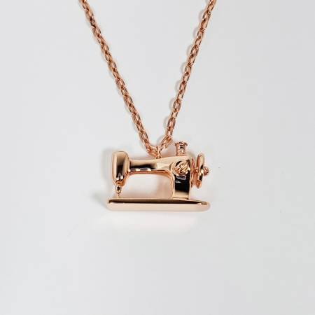 Sewing Machine Pendant - Rose Gold