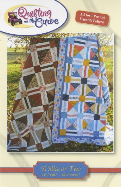 A Slice or Two - 2 sizes  Quilting on the Curve