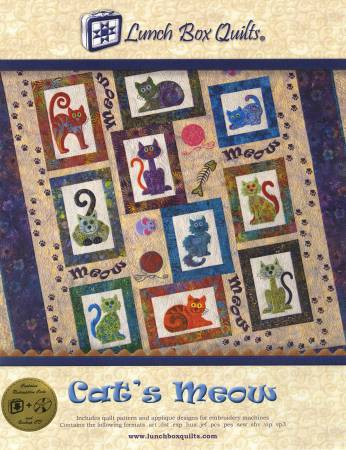 CD Cat's Meow- Machine Embroidery by Lunch Box Quilts^